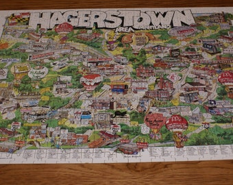 Hagerstown, Maryland Jigsaw Puzzle- ABWA Puzzle- Advertising Puzzle
