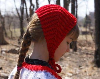 Crochet Pattern-Little Girls Hat- Granny Chapie's Bonnet for Little Girls-PDF Download