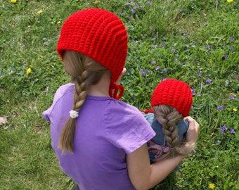 Crochet Pattern Deluxe-Little Girls Hat- Bonnet for Little Girls, 18-inch Doll, Toddler, Adult-PDF Download