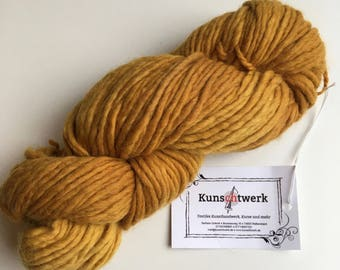 Yellow Broom-100% virgin wool, hand dyed with plant colors