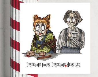 Sweeney Todd Broadway inspired card, Barber, Musical, Mrs Lovett, Angela Lansbury, birthday, thank you, friends, any occasion blank quote