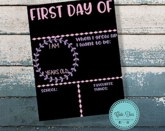 First day of pre-k, First day of school sign, first day of school chalkboard, Back to school sign, Back to school chalkboard, back to school