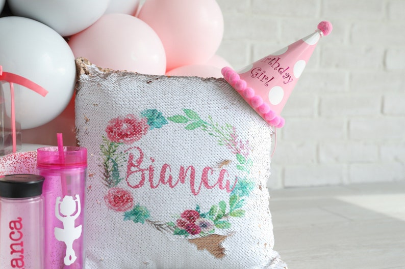 tween best selling items teen girl room decor rose gold sequin pillow reversible unicorn baby shower gift personalized unicorn pillow