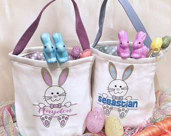Easter baskets, personalized Easter baskets, Easter, Easter bunny basket, Easter tote bag, Easter canvas, bunny, Easter, Easter gifts