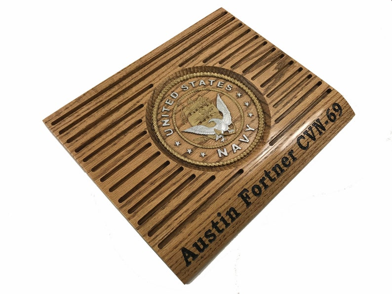 NAVY COIN HOLDER Display Custom Personalized Military Challenge Coins Rack  Rank Retirement Promotion Retirement Gift
