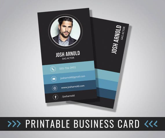 business card design photo business card printable 3 5 x etsy