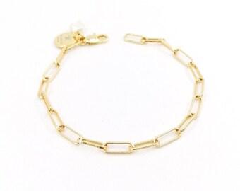 Toby - 24k gold plated chain bracelet