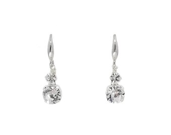 Adora - rhinestone drop earrings