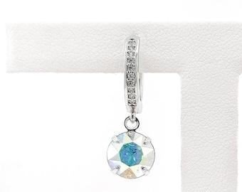 AB crystal earring - rhodium plated