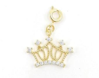 Gold crown charm