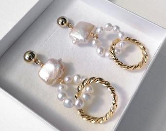 Allegra - statement dangle earrings