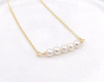 Valentina - 18k gold filled pearl necklace