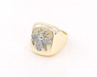 Honeybee - gold statement ring