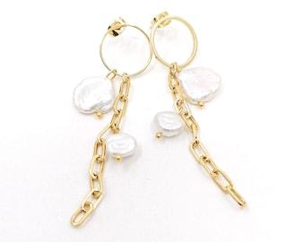 Kyra - dangle chain earrings