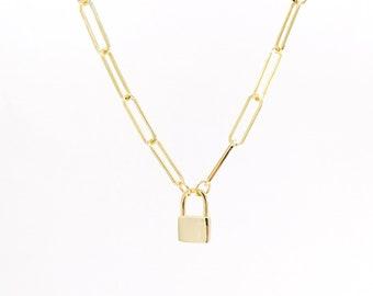 Unlock my lock - padlock necklace