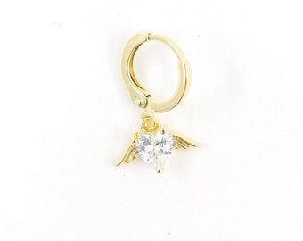 Angel heart earring