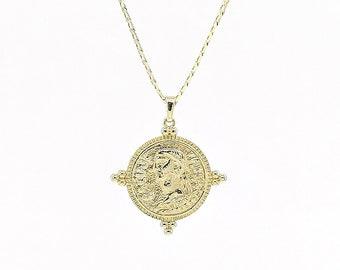 Filos -  greek medallion curb chain