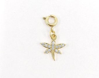 Pave dragonfly charm