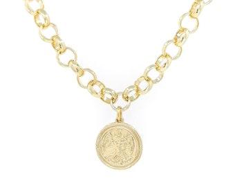 Aiden - angel medaillon necklace