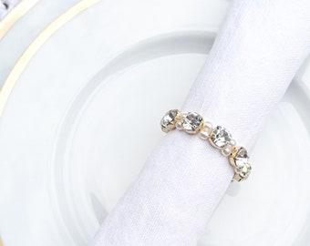 Crystal pearl napkin rings