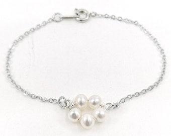 Petunia bracelet - silver