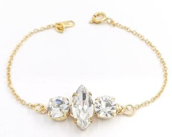 Abigail - gold crystal bracelet