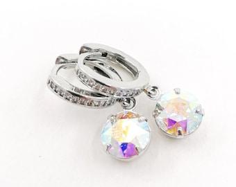AB crystal Swarovski earrings