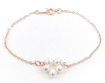 Petunia bracelet - rose gold