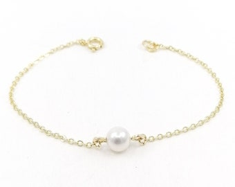 Monroe - 18k gold filled pearl bracelet