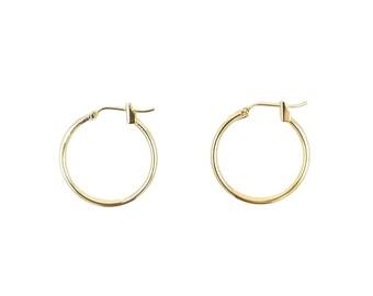 Gold hoop earrings 20mm