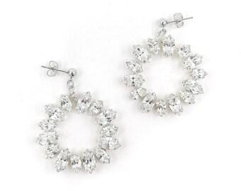 Tanya - cluster crystal earrings
