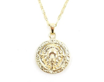 The king - 24k gold plated coin necklace