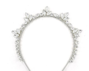 Zara - silver crystal headband