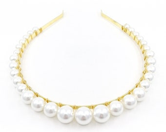 Willa - large pearl headband
