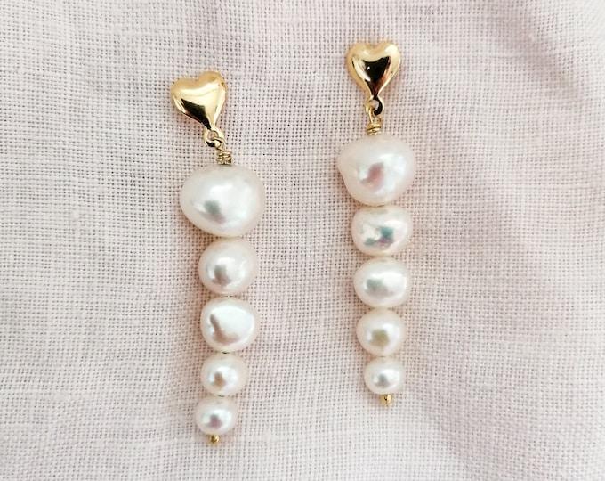 Featured listing image: Gigi - long pearl earrings