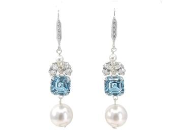 """Something blue"" earrings"