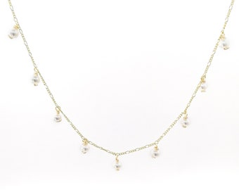 June - dainty pearl necklace