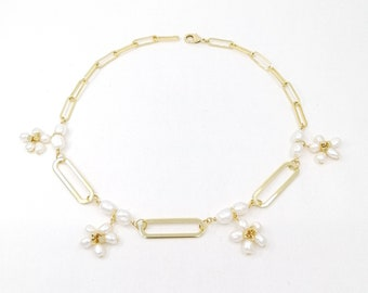 Meadow - 24k gold plated necklace
