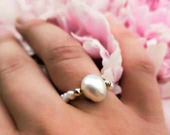 Santorini - pearl ring