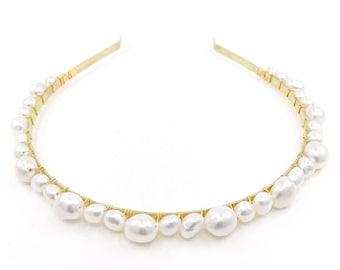 Freshwater pearl headband