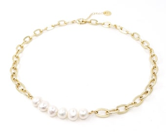 Lady - 24k gold plated necklace