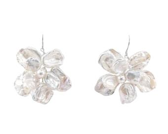 Dahlia - statement flower earrings