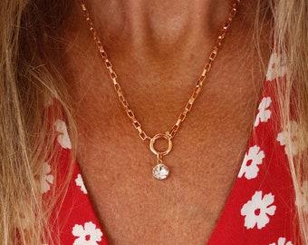 Blink - 17k rose gold plated necklace