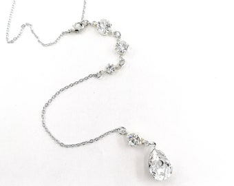 Crystal backdrop necklace