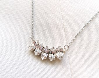 Leone - silver crystal necklace