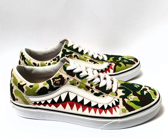 Custom Bape Camo Print Old Skool Vans