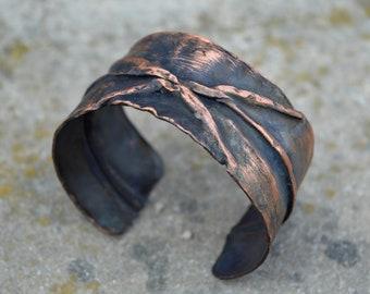 copper cuff bracelet, copper bracelet, copper jewelry, rustic copper cuff, rustic bracelet, wide copper cuff,wide bracelet,unique cuff