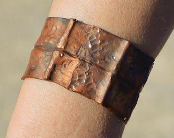 copper cuff bracelet, copper bracelet, copper jewelry, rustic copper cuff, rustic bracelet, wide copper cuff,wide bracelet,unique cuff,gift