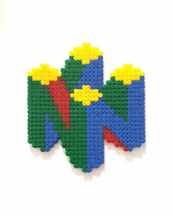 Items Similar To Nintendo Logo 64 Pixel Art On Etsy
