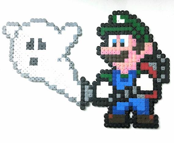 Luigi Pixel Art Luigi S Mansion Pixel Art Perler Beads